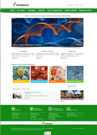 Edisfera realizes the new corporate website of Italfarmaco